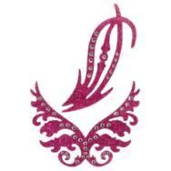 Csillogó, intim matrica szett - 2 részes (pink)