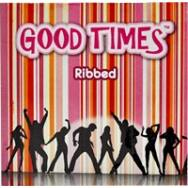 Good Times Ribbed - bordázott óvszer (3db)