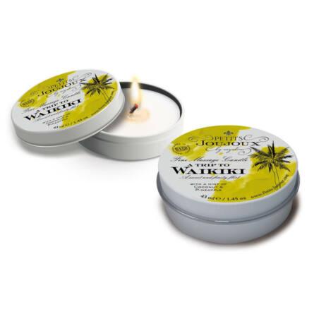 Petits Joujoux Waikiki - masszázsgyertya - 43ml (kókusz-ananász)