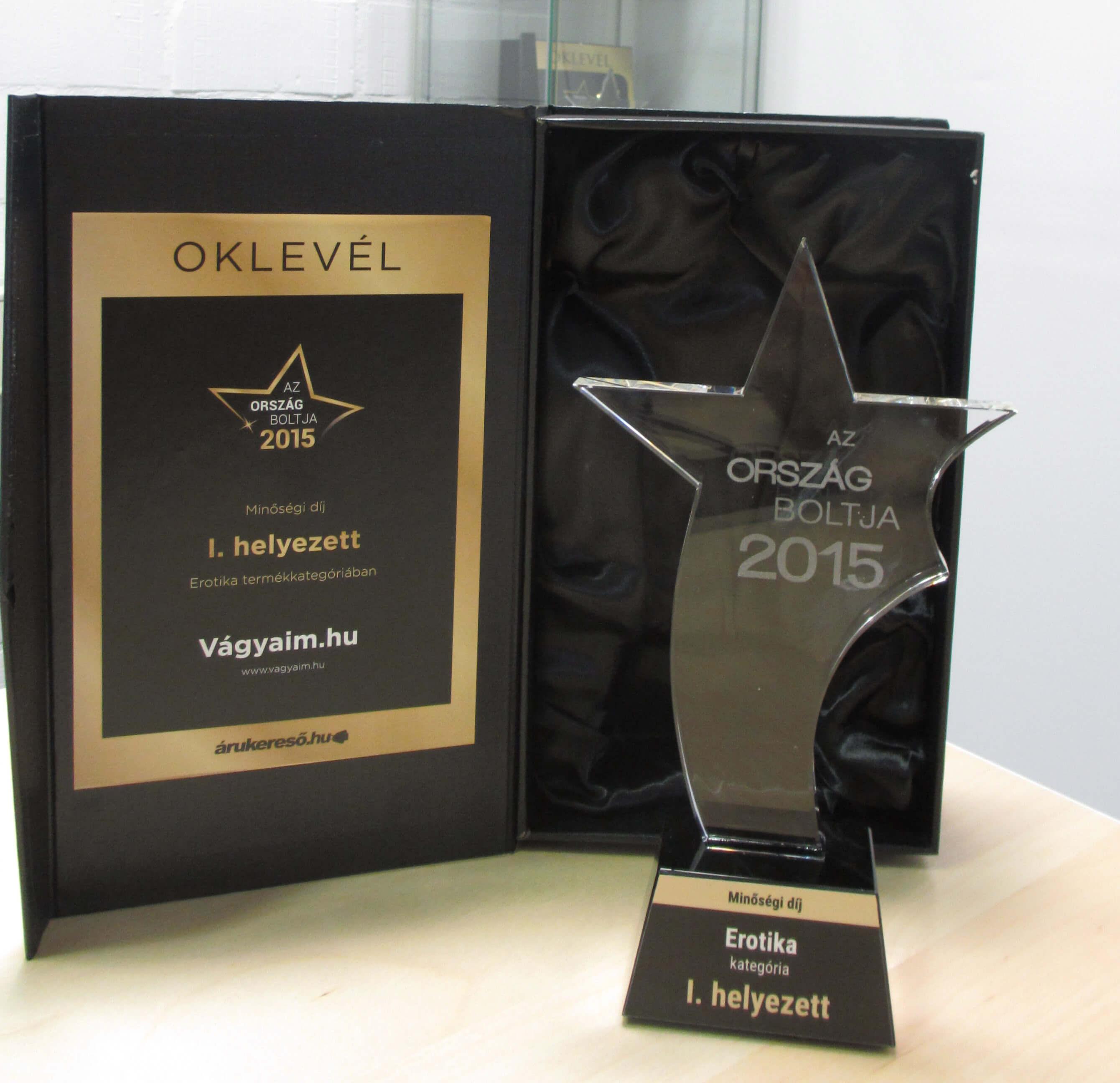 2015 Minőségi díj - Az Ország Boltja